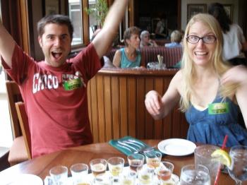 Yea! Beer! (Eddie & Janet at Taproom)