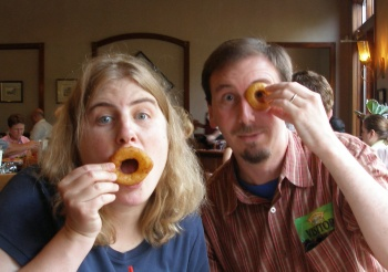 Kathy & Bryce with Onion Rings