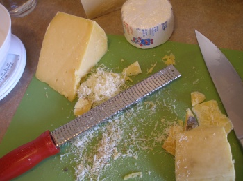 Using the Microplane for the rind