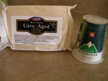 Cheeses for Glarner Fondue