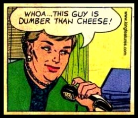 Don't be a guy or gal who is dumber than cheese!