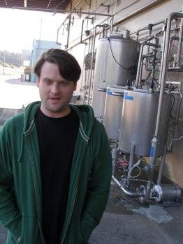 Jeff at Milk Receiving Dock