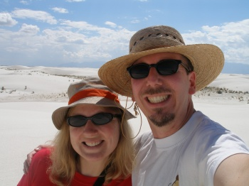 Kathy & Bryce at White Sands