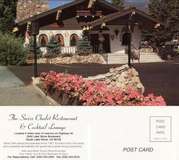 Swiss Chalet Postcard