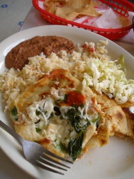 Spinach & Cheese Pupusa