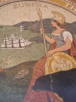 Seal of California Mosaic Detail