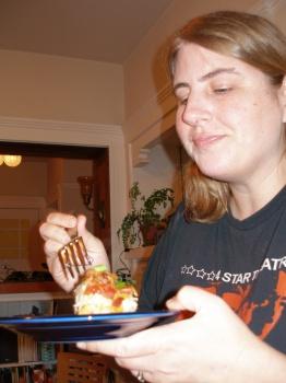Kathy Tries the Pie