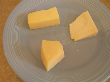 Emmenthaler, some Sardinian Pecorino Sardo and a raw-milk Manchego